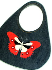 Džinsinė rankinė mergaitei su drugeliu