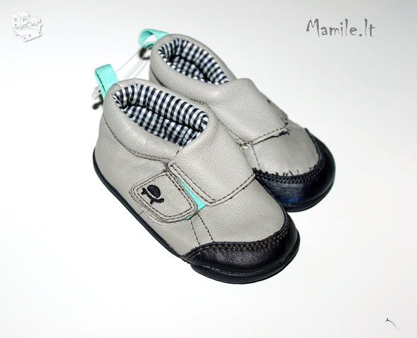 Nauji Odiniai batukai-tapukai kūdikiams su nedideliais defektais