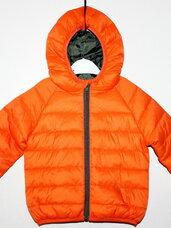 Dygniuotos oranžinės striukės vaikams nuo gimimo iki 2 metukų