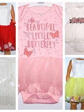 Puošnios TIULIO suknelės 0-1 metų mergaitėms.
