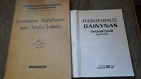 Dvi knygos.autoriaus dedikacija.