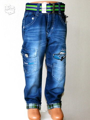 Išskirtiniai džinsai berniukams 1-4 metų
