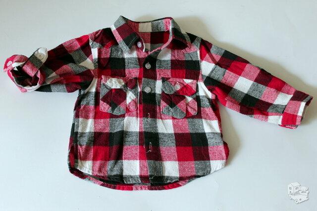 Languoti vintažiniai marškiniai berniukui