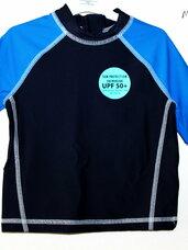 Maudymosi marškinėliai vaikams su + 50 UV apsauga