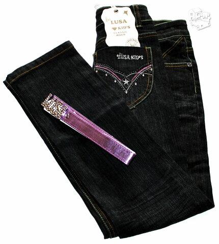 JUodi klasikiniai džinsai mergaitėms tik po 6,45 eur. I