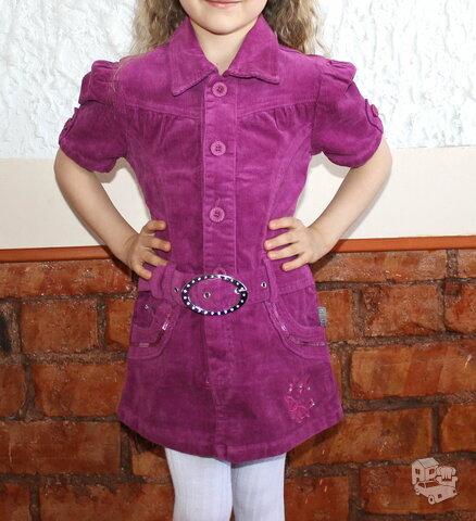 Velvetinės tunikos-sarafanai  mergaitėms
