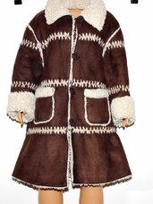 Šiltas paltukas-kailinukai mergaieti (dublionkė)