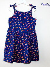 Mėlynos suknelės mergaitėms iš aukščiausios BIO medvilnės