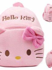 Minkšta pliušinė vaikiška kuprinė Hello Kitty