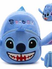 Minkšta pliušinė vaikiška kuprinė Stitch