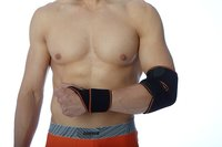Elastinis riešo įtvaras sportininkams su šildančiu - šaldančiu