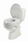 Paminkštintas tualeto paaukštinimas su dangčiu 115 mm.