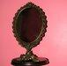 Vintažinis pastatomas veidrodėlis