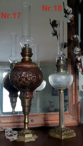 Nr.17 ir 18) Prabangios antik.žibalinės Lempos-veikiančios