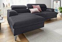 Minkštas kampas L formos Nr108(1) juodas su miego funkcija ir dė