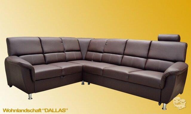 Minkštas kampas Dallas su miego funkcija