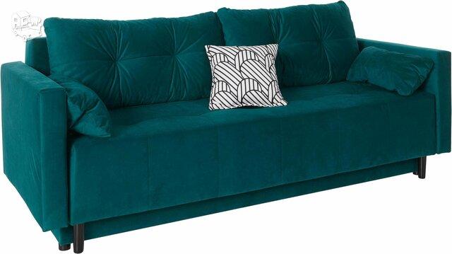 Minkšta sofa – lova Nr145 mėlyna