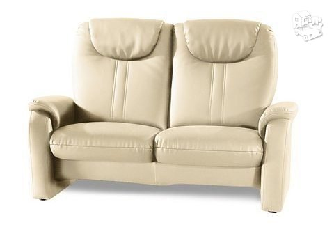Minkšta sofa Nr161 gelsva naturali oda su relax funkcija