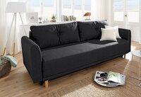 Sofa – lova Nr144 juoda su miego funkcija ir dėže patalynei
