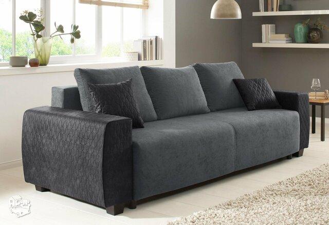 Minkšta sofa lova Nr152 pilka