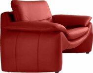 Minkštas fotelis Nr169 raudona naturali oda