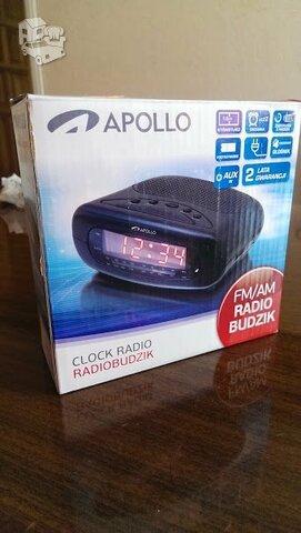 Appllo laikrodis, žadintuvas, FM radijas