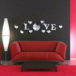 """Dekoratyvinis sieninis veidrodinis laidrodis-lipdukas """"Love"""""""