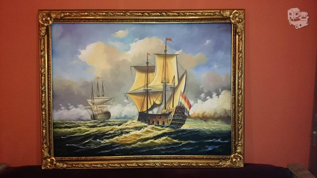 Paveikslas. Jūra, laivai (133x99cm)