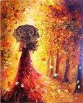 """Tapybos pagal skaičius rinkinys """"Beautiful Women Autumn"""""""