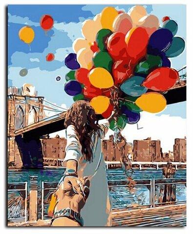 """Tapybos pagal skaičius rinkinys """"Romantic Balloons"""""""