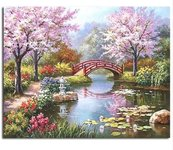 """Tapybos pagal skaičius rinkinys """"Japanese Garden"""""""