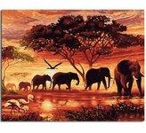 """Tapybos pagal skaičius rinkinys """"Elephants"""""""