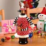 """Kalėdinė butelio dekoracija """"Kalėdų elnias"""""""