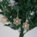 """Medinė Kalėdinė dekoracija """"Snaigės"""""""