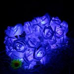 Led dekoracija Blue Roses