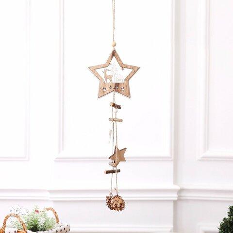"""Medinė kabanti kalėdinė dekoracija """"Žvaigždė"""""""
