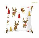 Kalėdinės pagalvėlės užvalkalas, 44x44 cm