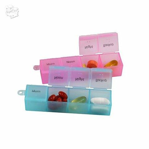 """Vaistų laikymo dėžutė, 4 dalių, """"1 Day"""""""