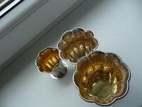 Sidabrinės taurelės-vazelės