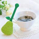 """Silikoninis arbatos sietelis """"Žalia kriaušė"""""""