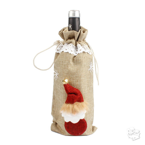 """Kalėdinė butelio dekoracija """"Merry Christmas"""""""