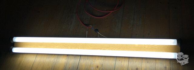Veikianti liuminescencinė lempa