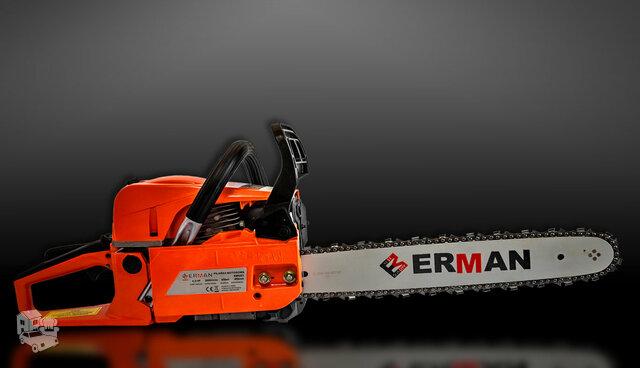 Naujas benzininis pjūklas ERMAN HM + dovana