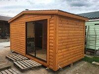 Pirtis sauna su stumdoma vitrina AKCIJA