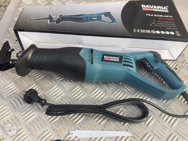 Akcija ! Tiesiniai pjūklai BAVARIA Elektro Werkzeuge 2000 W.