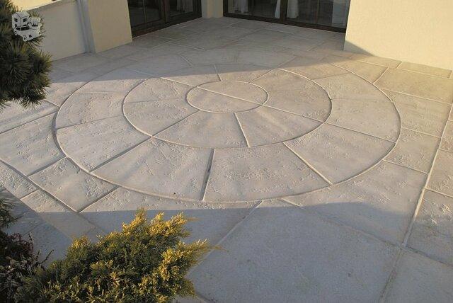 Sodo takelių plokštės, dekoratyvinės laiptų pakopos