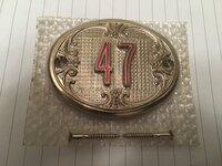 """Metalinis Buto / Kambario Durų Numeris """"47"""""""