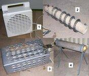 Keli buitiniai gamykliniai ir savadarbiai šildytuvai