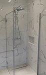 Veidrodziai,dušo kabinos,stiklo pertvaros