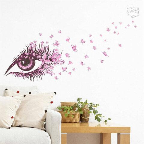 """Sienos lipdukas """"Butterfly girl eye"""""""